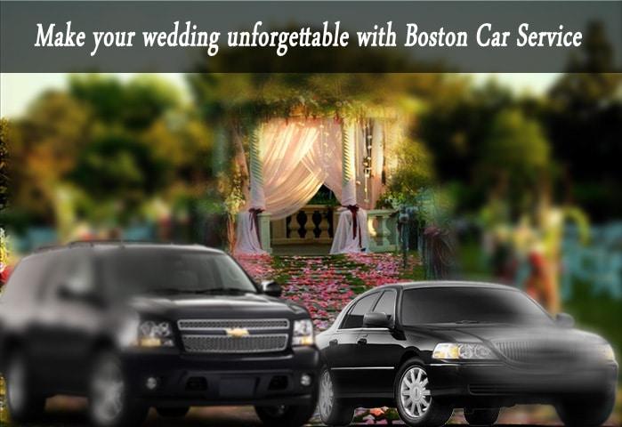 unforgatable wedding woth Boston Car Service